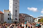 Vyškovské náměstí je připraveno na příjezd prezidenta Miloše Zeman.