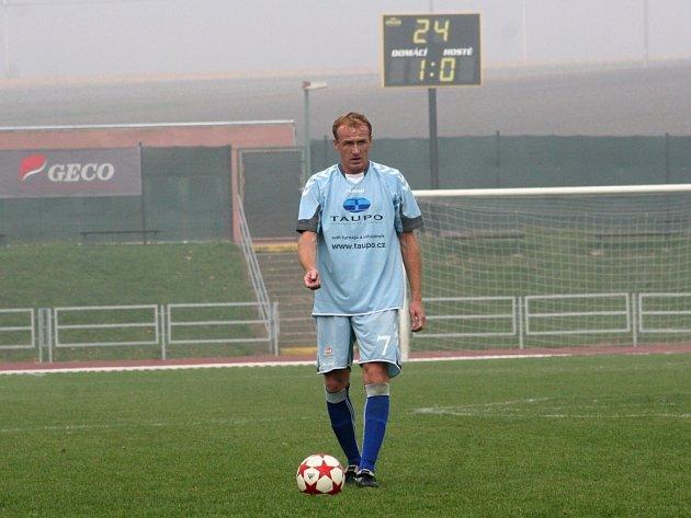 Bývalý kapitán Zbrojovky Richard Dostálek svými výkony brněnský klub v první lize neudržel. Teď obléká dres Vyškova.