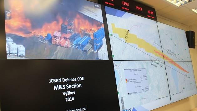 Slavnostní otevření operačního v rámci Centra ochrany proti zbraním hromadného ničení ve Vyškově.
