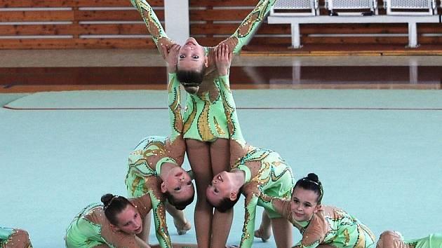 Opravdová elita závodnic se představí na úterním Mistrovství České republiky v estetické skupinové gymnastice ve vyškovské hale na Purkyňově ulici.