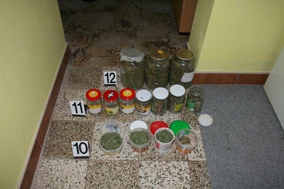 Asi tři kila marihuany schované dokonce i v mrazáku, zbytky varny pervitinu a víc než sto kusů lysohlávek našli kriminalisté při domovní prohlídce u dvou mladíků z Vyškovska