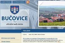 Webové stránky Bučovic.