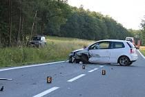 Nehodu dvou aut kousek za Ježkovicemi směrem na Ruprechtov odneslo šest lidí včetně dvou dětí lehkými zraněními.