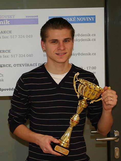 Vítěz hvězdného výkonu Vyškovska Tomáš Steiner.