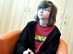 Čtrnáctiletý Martin Mátl z Rostěnic zvítězil v republikovém kole olympiády v anglickém jazyce.