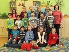 Žáci 1.C ze ZŠ Nádražní 5 Vyškov s paní učitelkou Hanou Pospíšilovou.