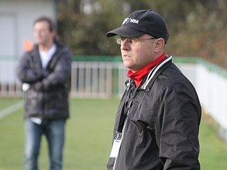 Trenér Tatran Rousínov Tomáš Kovanda.