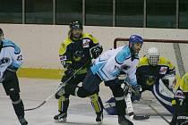 Krajská liga: Svišti Vyškov (v bílém) vs. Moravské Budějovice