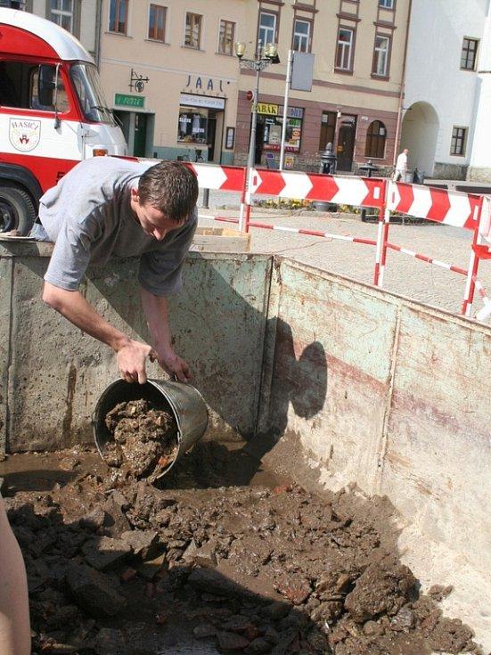 Studna na vyškovském náměstí.