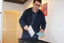 Vyškovský starosta Karel Goldemund si nechal návštěvu volební místnosti na sobotní dopoledne.