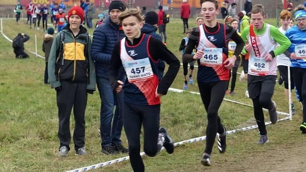 Běžci AK AHA Vyškov na mistrovství republiky v krosu v Běchovicích.
