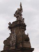 Floriánovo sousoší stojí na Palackého náměstí v Ivanovicích na Hané.
