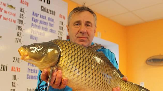Největší zájem očekávají ve čtvrtek a v pátek. Přesto se lidé podle prodejců ryb nemusejí bát, že jim kapr bude při štědrovečerní večeři chybět. Zásob je prý na Vyškovsku dost.