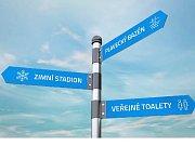 Blansko chce nové rozcestníky a turistické mapy. vizualizace: archiv města