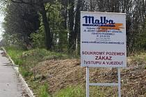 Jeden pozemek pod koupalištěm v Bučovicích