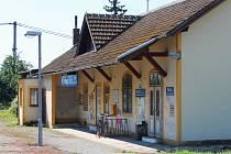 Dolní nádraží v Křenovicích.