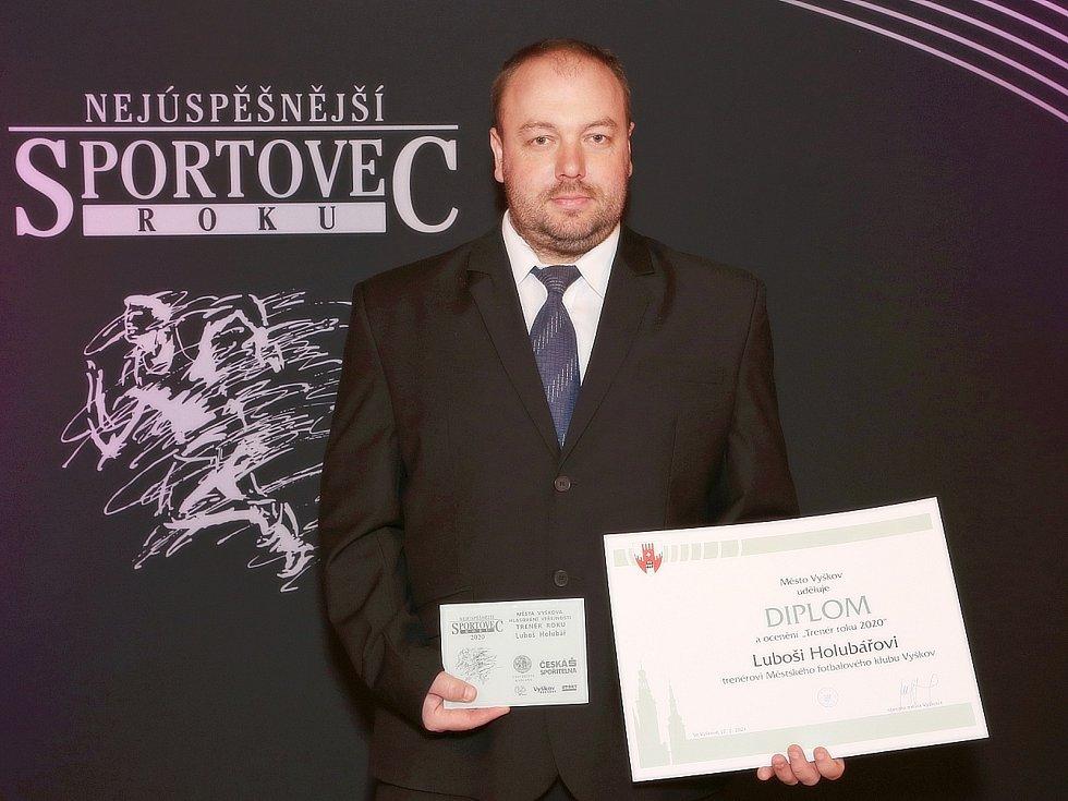 Představitelé města Vyškova předali diplomy a ceny nejlepším sportovcům města v roce 2020.