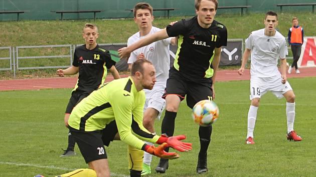 MFK Vyškov (bílé dresy). Ilustrační foto.