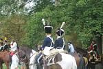 Návštěvníci si prohlédli dobové kostýmy i zbraně.