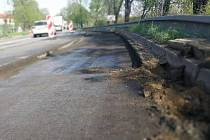 Silničáři začali s  další opravou na silnici I/50