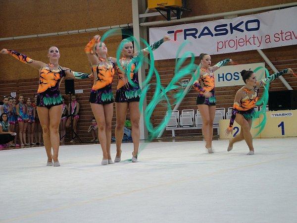 Oddíl moderní gymnastiky SK Trasko Vyškov uspořádal už 14.ročník Trasko Cupu ve společných skladbách.