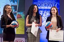 Snímky jsou ze slavnostního vyhlášení nejlepšího sportovce Vyškova za rok 2019. Uprostřed je místostarostka Vyškova Karin Šulcová.