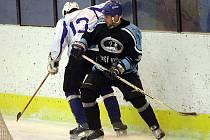 Hokej, krajská liga: Kometa Úvoz (v bílém) vs. Svišti Vyškov