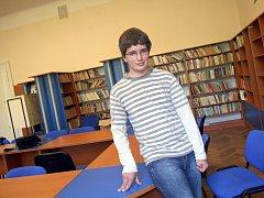 Student bučovického gymnázia Jan Pokorný.