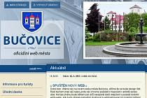 Nové internetové stránky Bučovic.