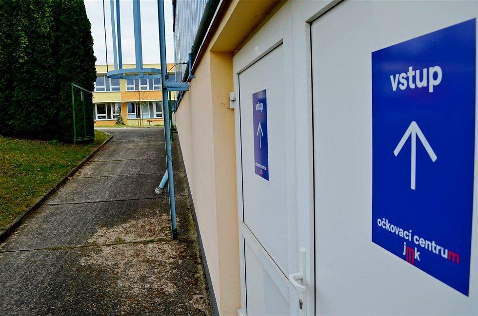 Očkovací centrum na Purkyňově.