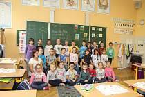 Děti v Základní škole Komenského ve Slavkově.