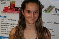 Mistryně republiky v mažoretkovém sportu v kategorii juniorek Eva Vlčková z vyškovského klubu Kalimero.