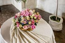 Výstavu květinových aranžmá si mohli lidé na zámku v Bučovicích prohlédnout od 4. do 12. července 2020.