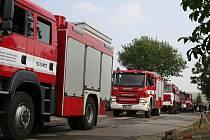 Požár eurovrakoviště v Holubicích