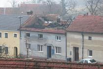Rodinný dům v Radslavičkách, kde hasiči zasahovali.