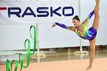 Oblastní přebor juniorek, který byl zároveň kvalifikací na mistrovství republiky moderních gymnastek, vyhrála ve Vyškově závodnice domácího SK Trasko Veronika Nohelová.