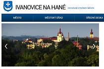 Vzhled webových stránek Ivanovic na Hané.