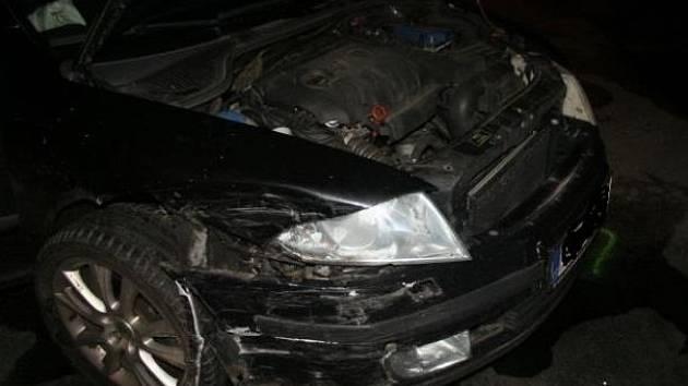 Auto, s nímž jel podezřelý.
