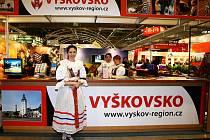 Expozice regionu Vyškovsko na veletrzích Go a Region Tour.