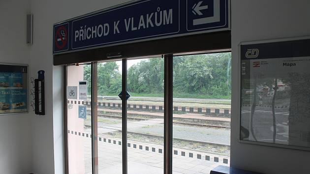 Železniční stanice v Bučovicích.