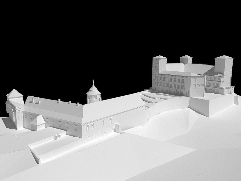 Klasicistní přestavba zámku z poloviny devatenáctého století.