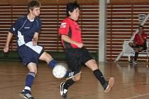 Futsal, krajský přebor: Amor Vyškov (v modrém) vs. K5 Brno