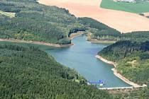 Letecký pohled na Opatovickou přehradu u Vyškova