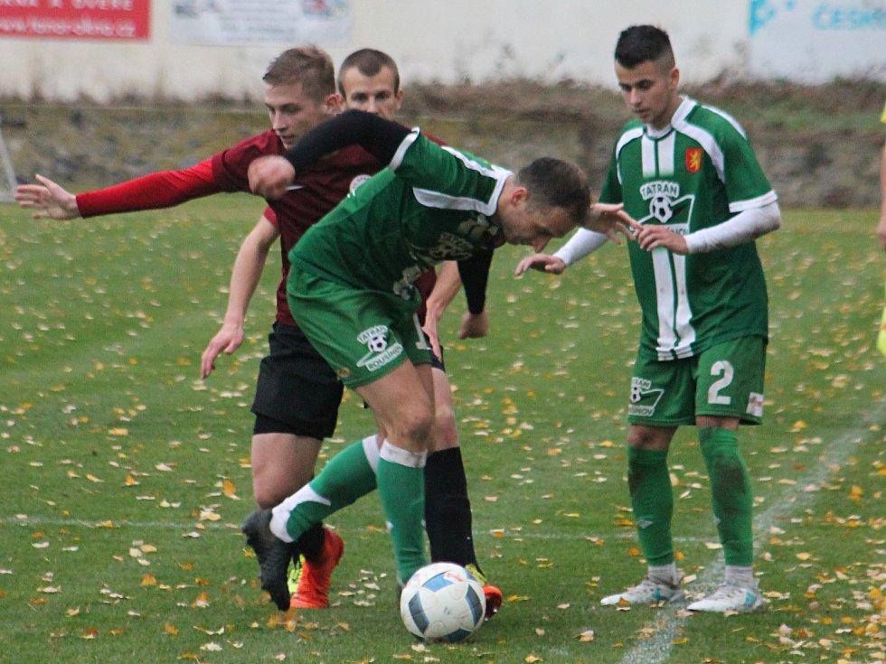 Fotbalisté Rousínova (v zeleném). Ilustrační foto.