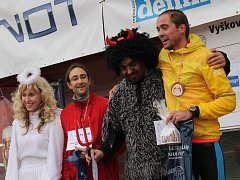 Vyškovský Mikulášský běh vyhráli Milan Kocourek z Adidas teamu a Sarah Hanulíková ze Šternberku.