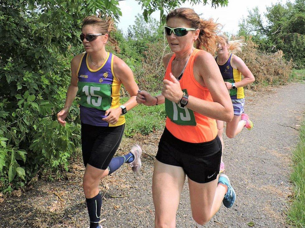 Běh kolem Vyškova, Vyškovská dvanáctka zaznamenal už 31. ročník. Vlevo je absolutní vítězka mezi ženami Irena Pospíšilová.