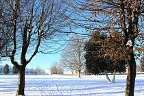 Zima se ve Vyškově ukázala nejen v celé své síle, ale také kráse. Vynikla i v centru města.