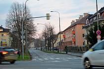 Ulice Nádražní.