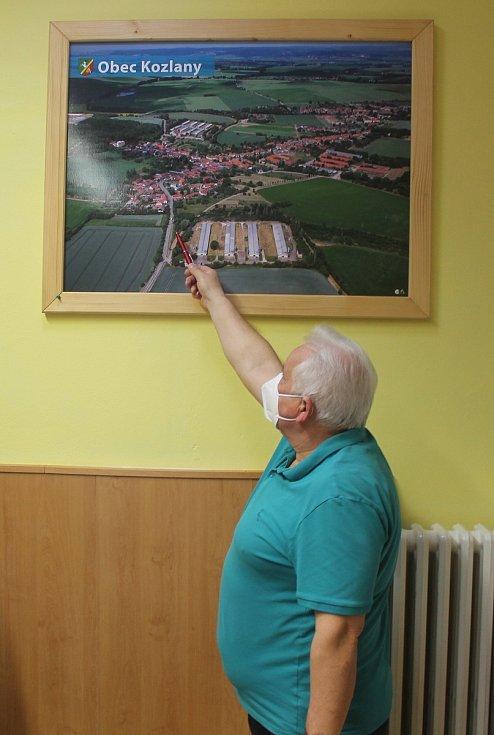 Starosta obce Kozlany Karel Pospíšil.