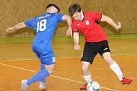 Futsálisté FC Kloboučky (v modrém dresu). Ilustrační foto